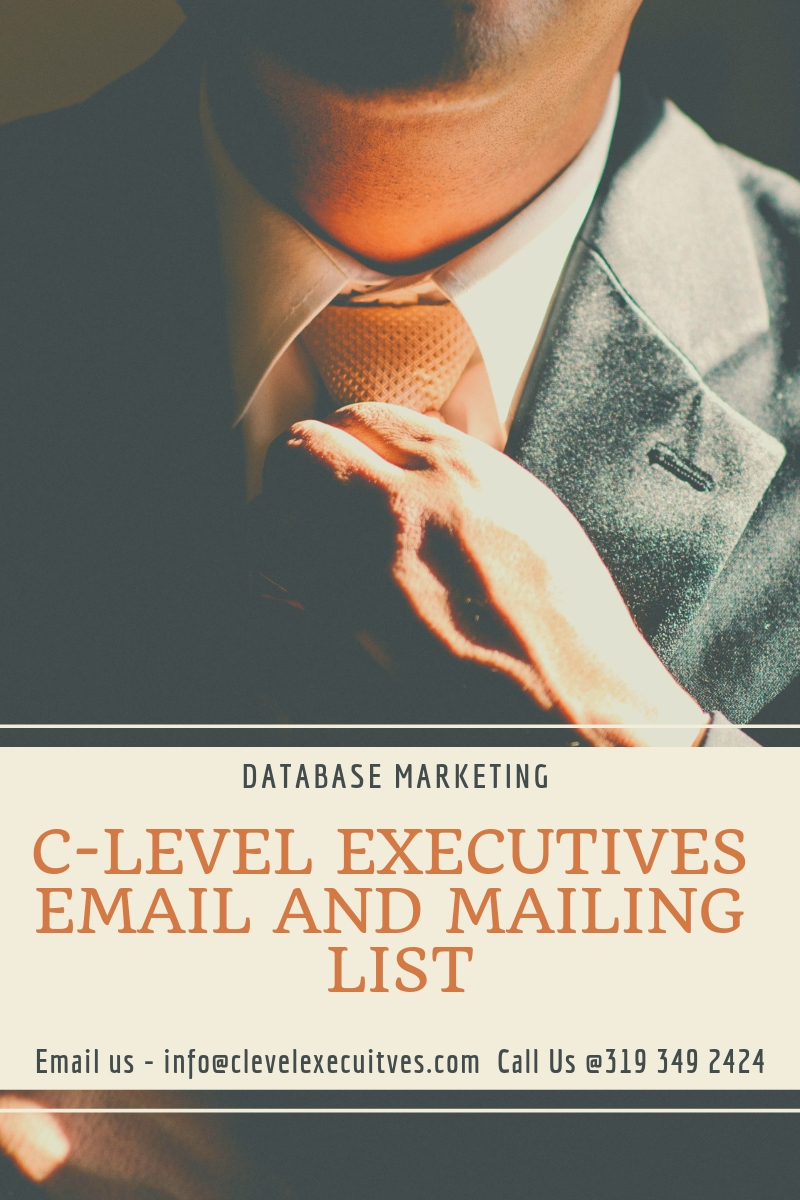 C-Level Executives Email And Mailing List — CEO, CFO, CMO,CIO,CTO,CHRO