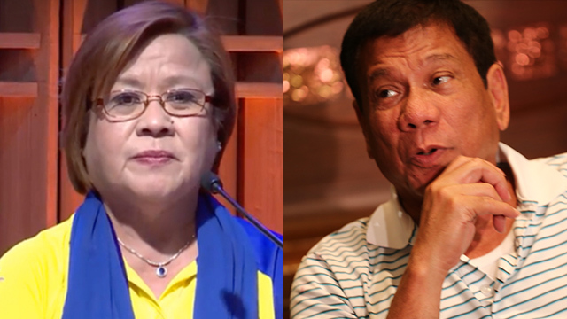 De Lima hits Duterte: I am not the enemy here, stop portraying me as one