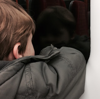 Boy with autism on the train