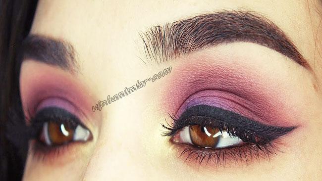 Mor Göz Farı İle Çekici Kahverengi Gözler - viphanimlar.com