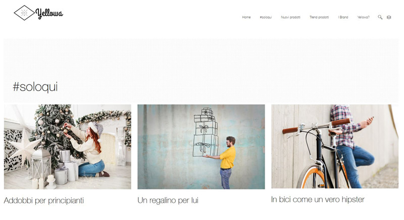 Yellowa.it, il primo sito web in Italia di oggetti di design, selezionati personalmente da designer, architetti, fotografi e trend setter