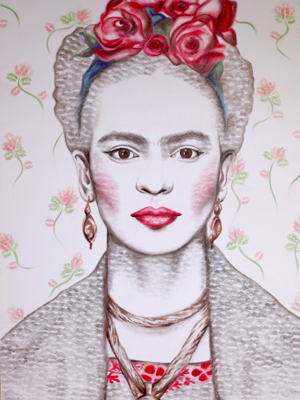 09-Frida-Kahlo-Alexis-Fraser-Portraits-Painted-with-Lipstick-and-Kisses-www-designstack-co