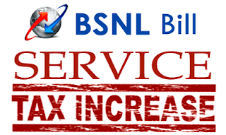 BSNL Bills Service Tax Krishi Kalyan Cess