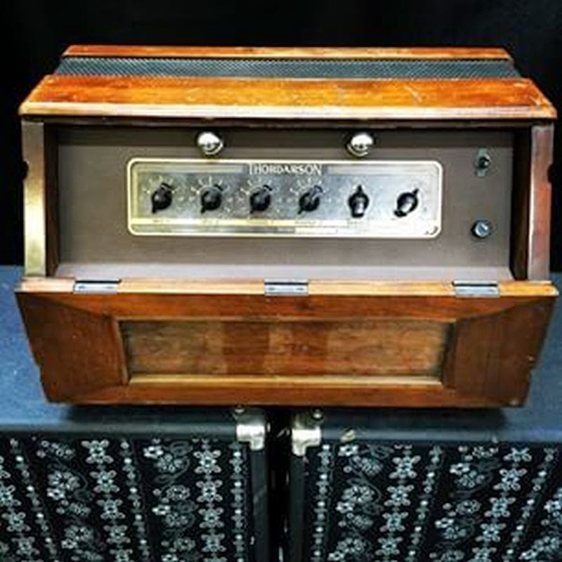 Thordarson Amplifier with 6V6 Push-Pull Output and Walnut Cabinet