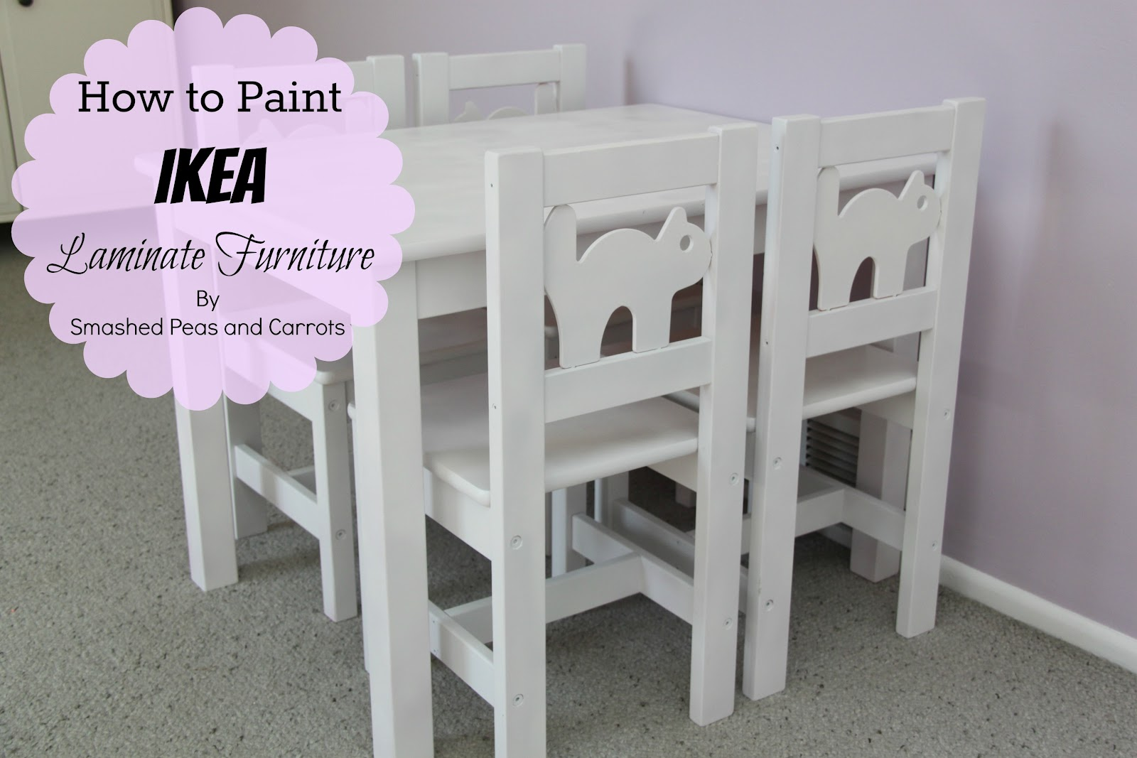 How To Paint Ikea Laminate Furniture Tutorial