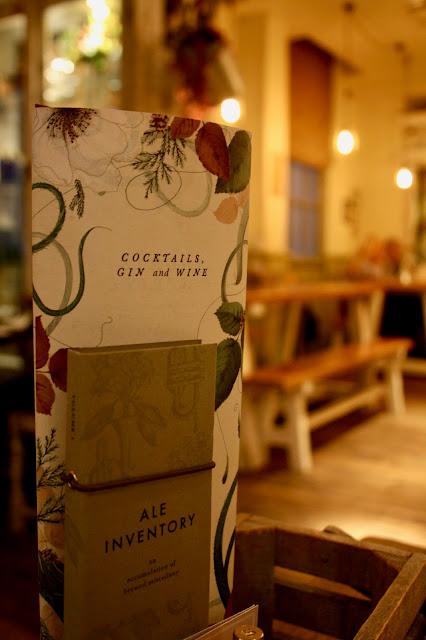 The Botanist Birmingham menu cocktails wine gin