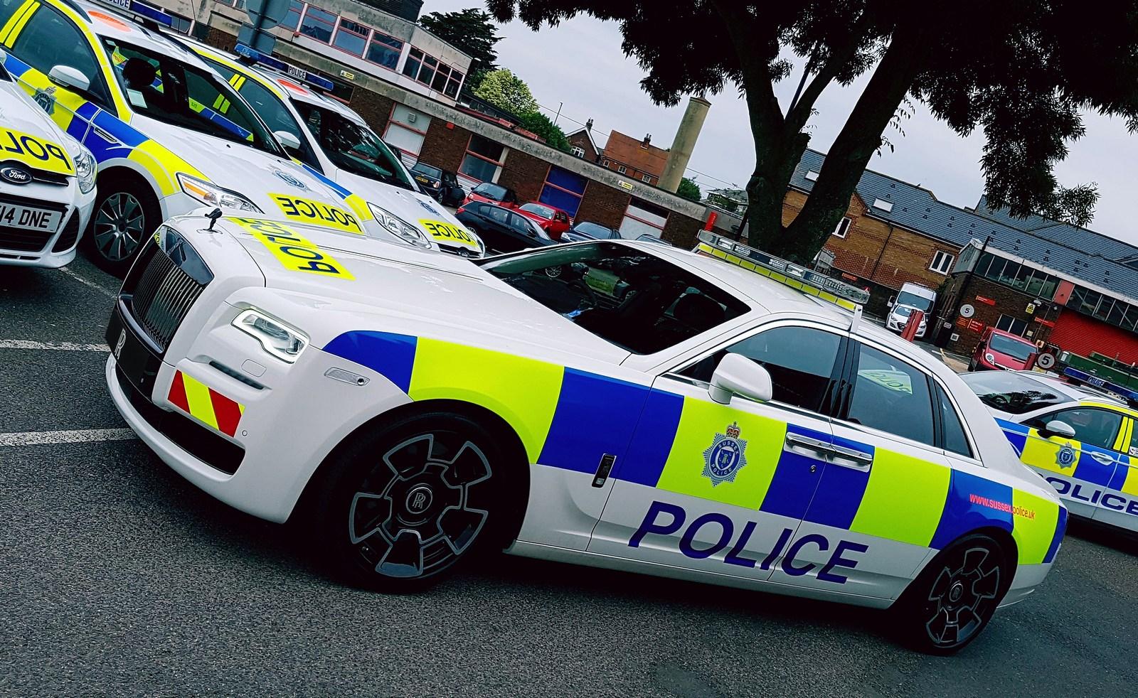 Rolls Royce Creates A One Off Ghost Black Badge Police Car