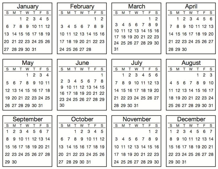SRM Stickers Summer Reveal; 2013 Mini Calendar + TINY Calendar Stickers