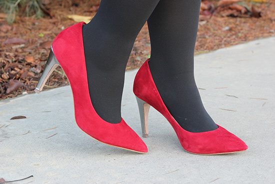 Diane von Furstenberg Red Suede Pumps