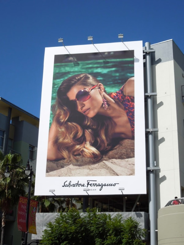 Salvatore Ferragamo 2012 eyewear billboard
