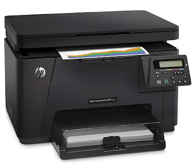 tablets as well as PCs amongst HP ePrint as well as Apple AirPrint HP LaserJet Pro M176n Driver Downloads