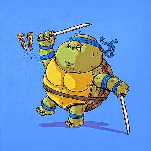 Fat Super Hero Gemuk - Ninja Turtle Fat Leonardo
