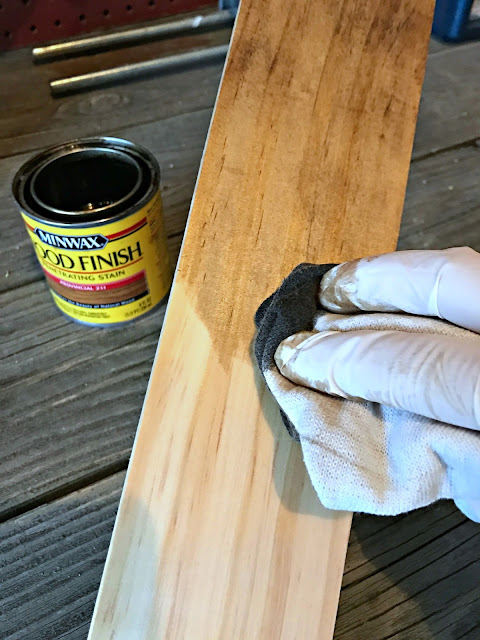 Wiping on stain instead of brush