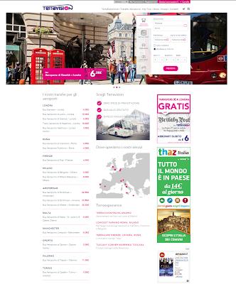 TERRAVISION - offre collegamenti tra gli aeroporti e le città in gran parte d'Europa!!