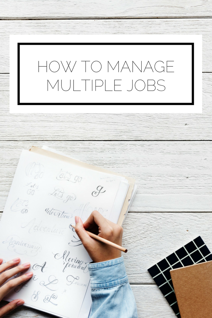 Click to read now or pin to save for later! Are you working multiple jobs and feeling overwhelmed? Or want to take on more, but are unsure of how you'll manage? Here's how to thrive while bringing in that extra money