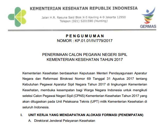 Kemenkes Soal Dan Pendaftaran Cpns Kementerian Kesehatan