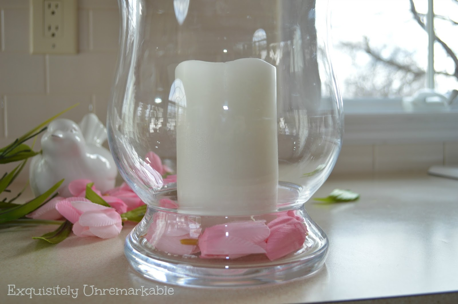 Faux Flower Centerpiece Idea