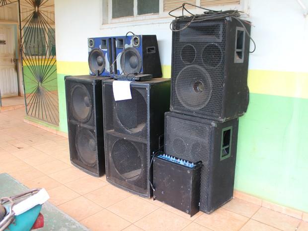 Operação 'Psiu Esforço Máximo' apreende aparelhos de som em Rondônia