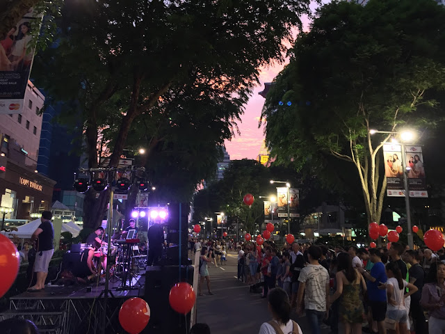 Pedestrian Night on Orchard Road - July 2015