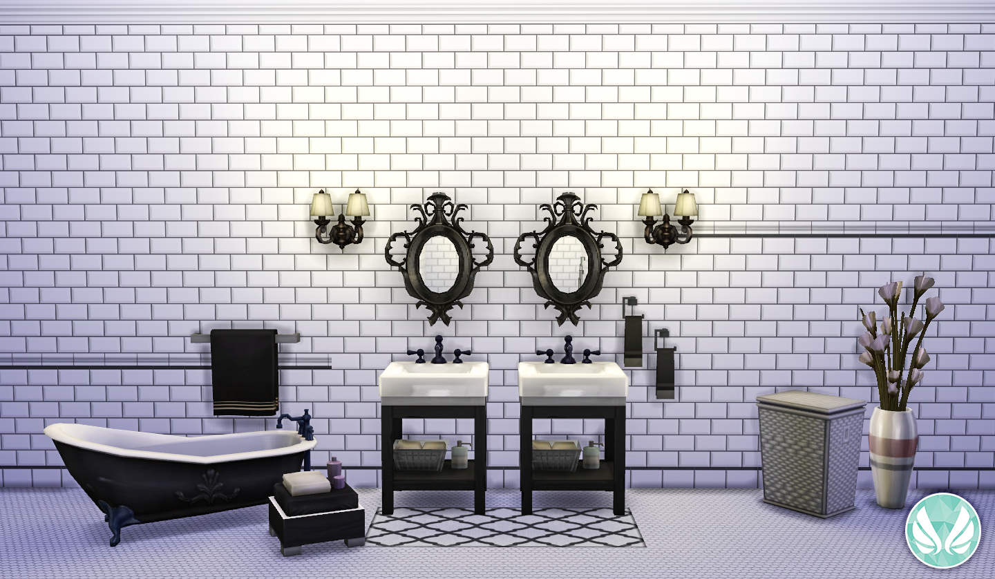My Sims 4 Blog Classic Wall Set Beveled Subway Tiles