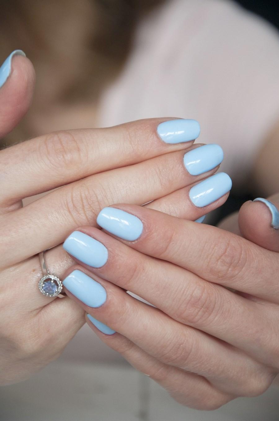 manicure hybrydowy, pastelowe lakiery hybrydowe, hybrydy allepaznokcie, lakier żelowy, hawaiian blue,