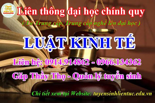 Liên thông Trung cấp nghề lên Đại học Luật kinh tế Hà Nội
