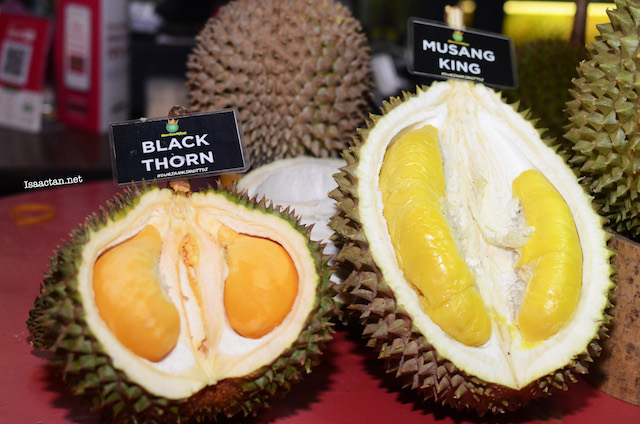 Two of my favourite variants, the Musang King and Black Thorn Durian
