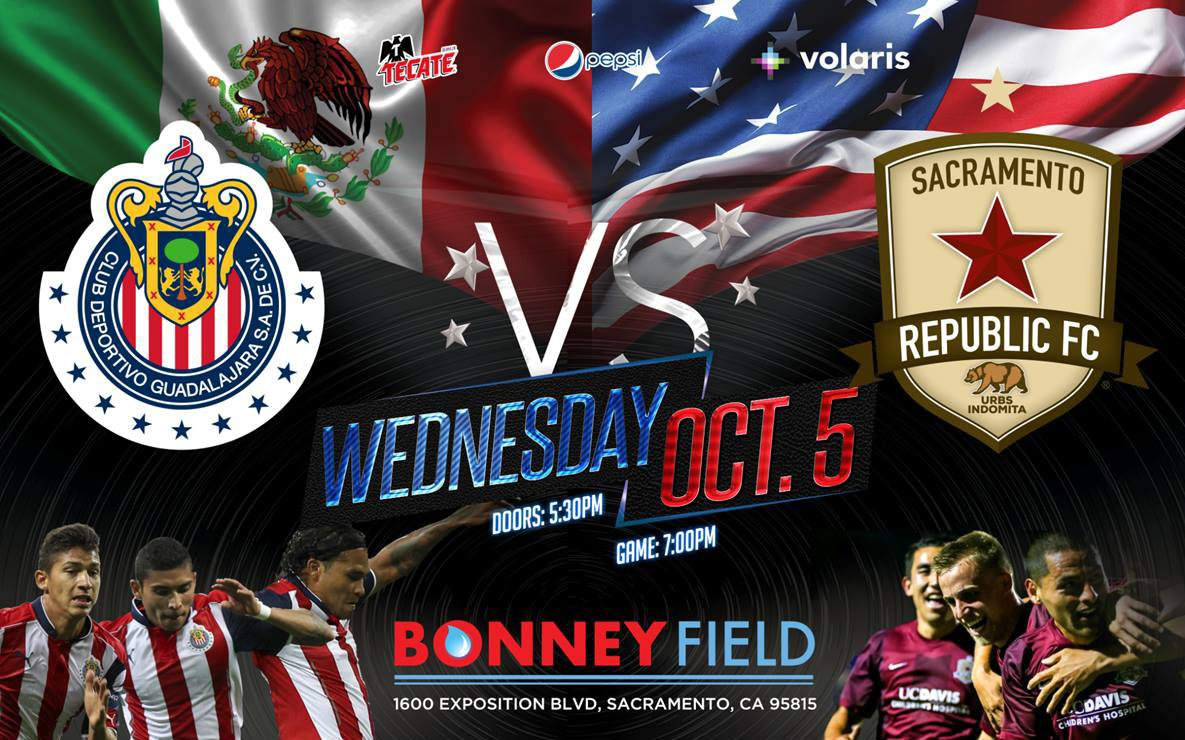 Sacramento Republic FC se enfrentara a las Chivas de Guadalajara.