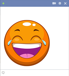 Orange emoji laughing
