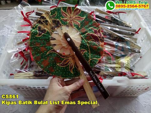 Toko Kipas Batik Bulat List Emas Special