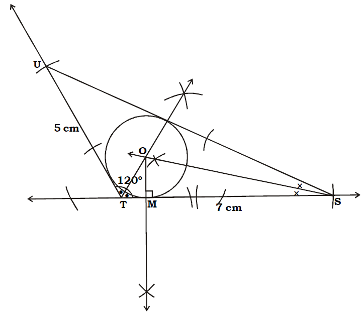 OMTEX CLASSES: 6. Construct the incircle of ∆ STU in which