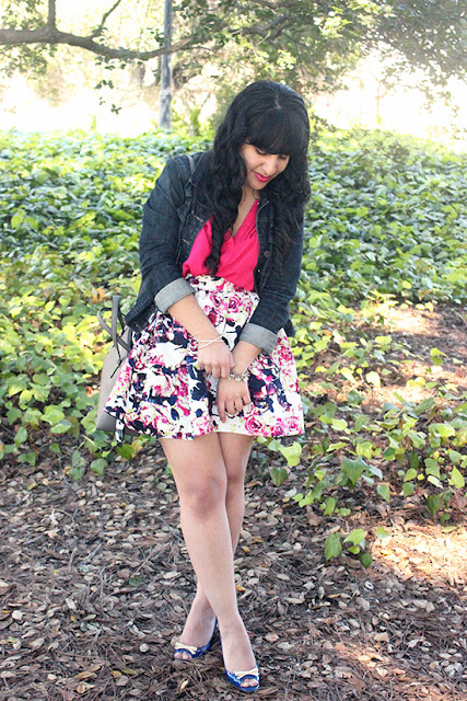 Joie Pink Silk Tie Blouse and Kate Spade Wedges Spring Weekend Outfit