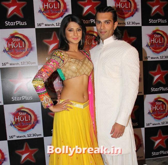 Jennifer winget and Karan Singh Grover ,  Jennifer winget, Shayantani , Others at Star Plus Holi Masti Gulal Ki