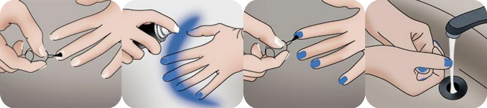 passo a passo; esmalte em spray; como usar esmalte em spray