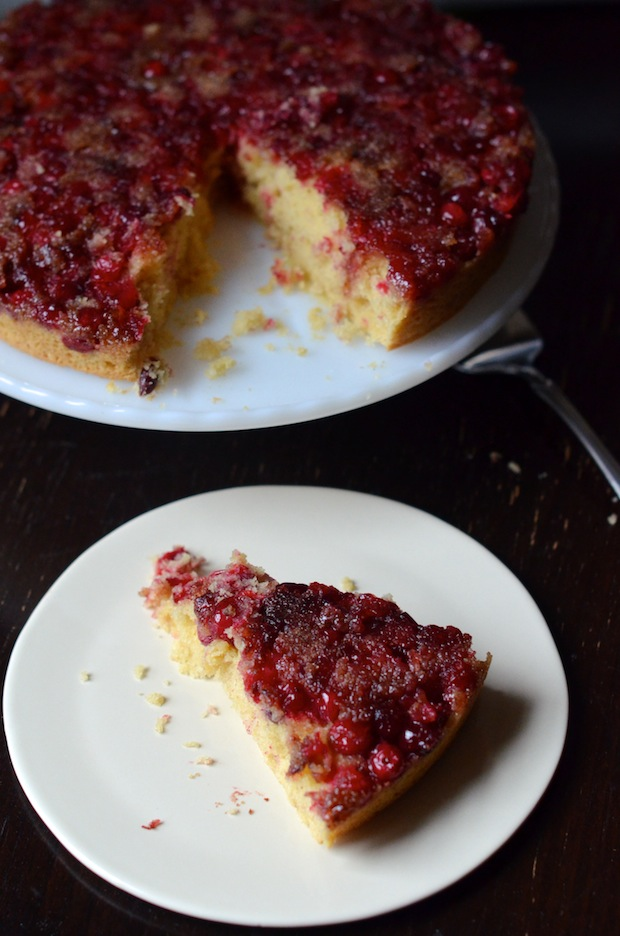 Cranberry Cornmeal Upside-Down Cake