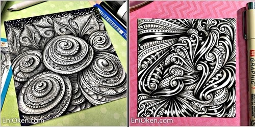 00-Eni-Oken-Color-and-Black-and-White-Zentangle-Drawings-www-designstack-co