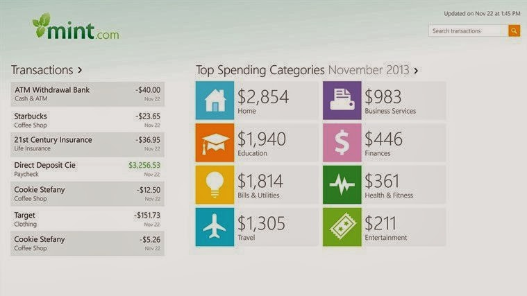 Mint personal finance app rolls onto Windows Phone and