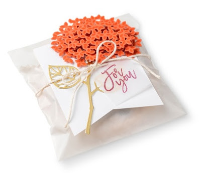 Stampin' Up! Thoughtful Branches flower treat bag #stampinup -- ONLY available in August 2016 www.juliedavison.com