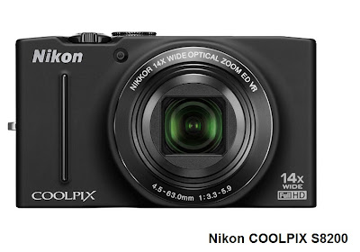 Nikon COOLPIX S8200 camera