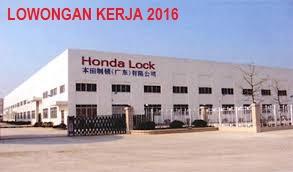 Lowongan Kerja Terbaru PT. Honda Lock Indonesia Bekasi Tingkat SMA/SMK Paling Baru 2018