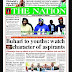 NIGERIA NEWSPAPERS: TODAY'S THE NATION NEWSPAPER HEADLINES [2ND FEBRUARY, 2018].