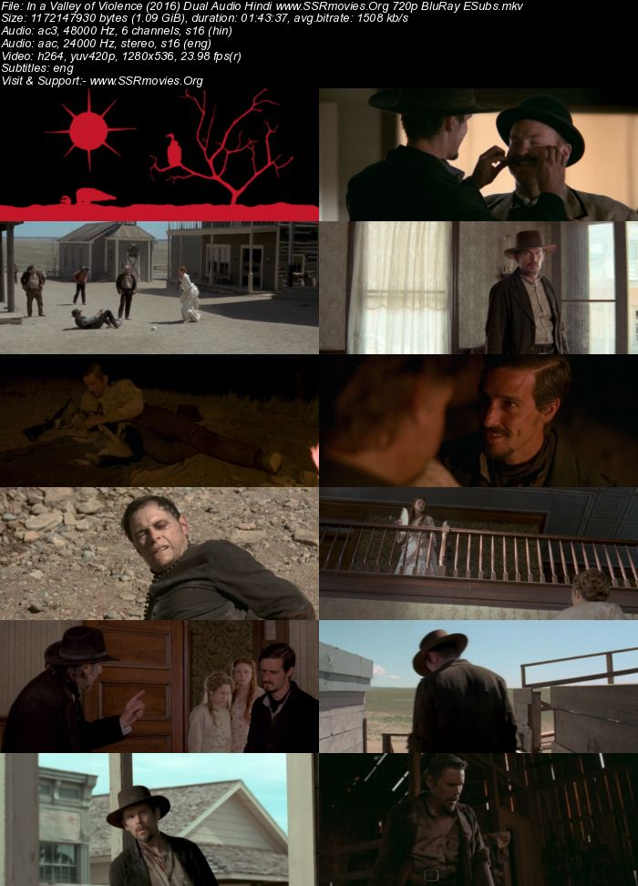 In a Valley of Violence (2016) Dual Audio Hindi 720p BluRay
