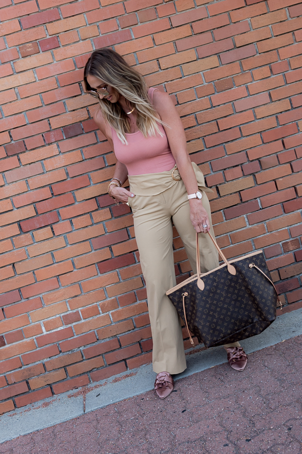 parlor girl tan trouser style