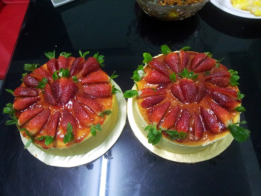 RESEPI: STRAWBERRY CHEESE CAKE Gebusss