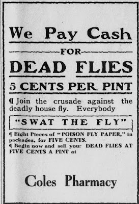 We pay cash for dead flies