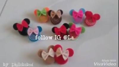 Cara Membuat Bros Mickey Mouse dari Kain Flanel