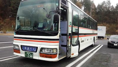 広島から松江行きのバス(広島電鉄)