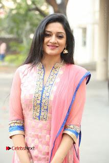 Actress Vimala Raman Stills in Beautiful Pink Salwar Kameez at (ONV) Om Namo Venkatesaya Press Meet  0224.JPG