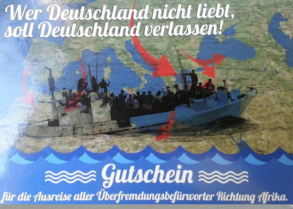 Capture d'écran de la carte postale envoyée par Der dritte Weg