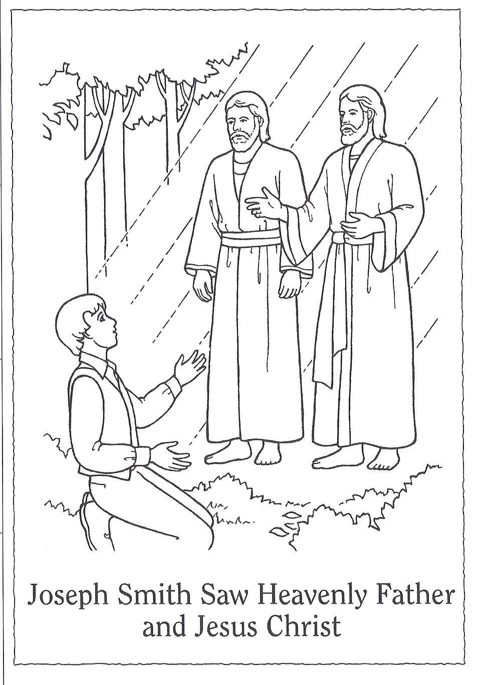 coloring page of the first vision happy clean living primary 3 lesson 5
